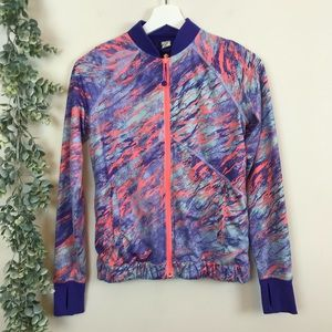 Ivivva Kids Colorful Zip-up Jacket Size 12